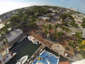 Marina view from 78' up in Key West
