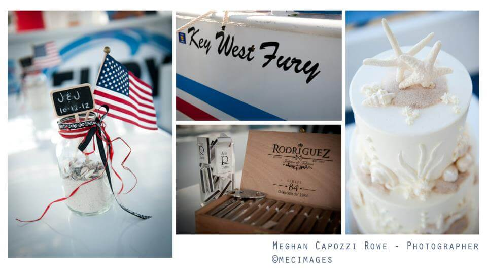 A few captured moments from a wedding aboard a Fury boat