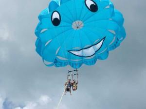 Parachute Pearl smiling away.