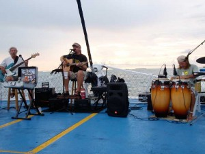 Tom, Cory, and Jeff perform on the Commotion on the Ocean.