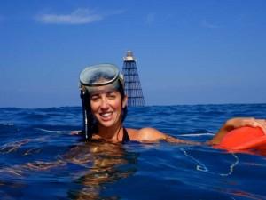 Shayne lifeguarding at the reef.
