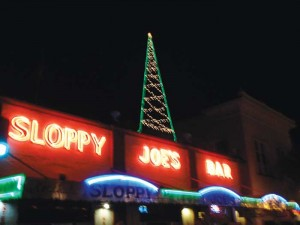 The iconic Sloppy Joe's ready for the holidays.