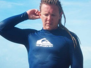 Captain Westy taking a breather during a surf session.