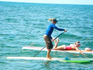 Captain Westy competing in the Paddleboard Classic