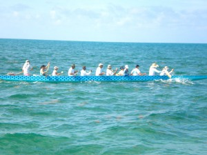 Key West's dragon boat team joining the fun