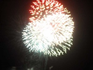 Firework show from White StreetPier