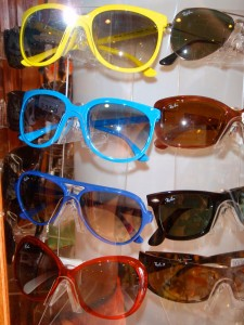 Funky neon Ray Ban's at the Surf Shack.
