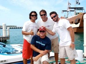 The Fury crew: Davey, Marius, Ronan, and Zac