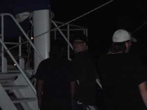 John Popper and the band aboard Fury.