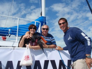 Captain Marius with his parents aboard our official turnboat.