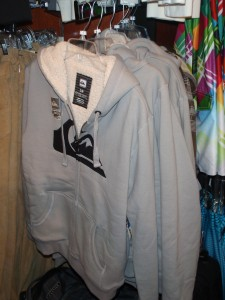 Quiksilver hoody at the Surf Shack.