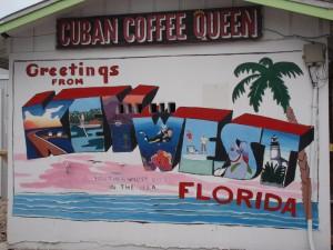 Colorful facade of the Cuban Coffee Queen.