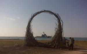 Jonathan Schork's installation.