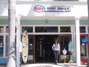Fury Surf Shack's Duval Street facade.