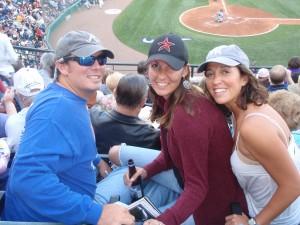ATL Rob, Astro Becky, Bx Bomber Shayne at Braves Spring Training.