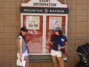 Becky-Shayne Astros-Yankees Rivalry.