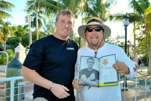 Dakota Meyer with Captain Chuck.