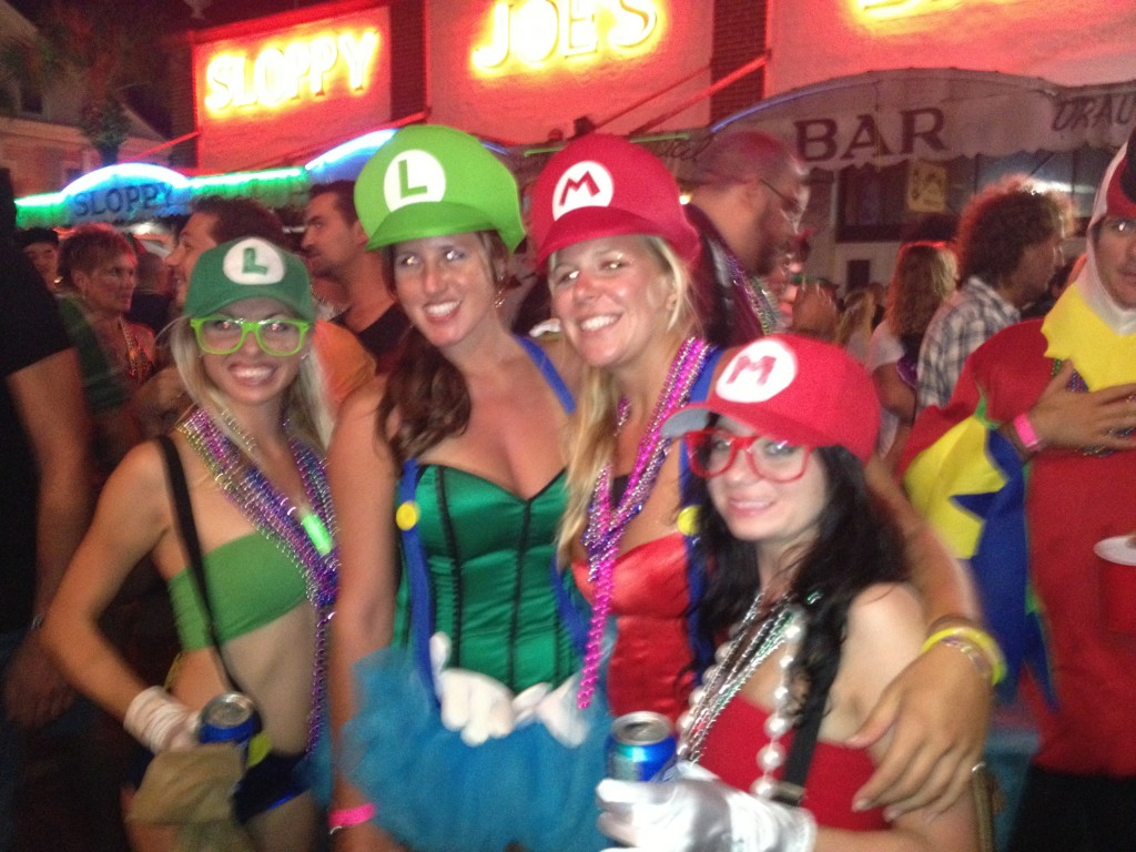 Mario Brothers at Key West Fantasy Fest
