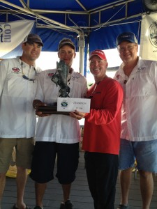 The Winning Team at the Fishing Tournament