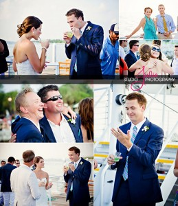 Winter Wedding Photos on Fury Catamaran in Key West