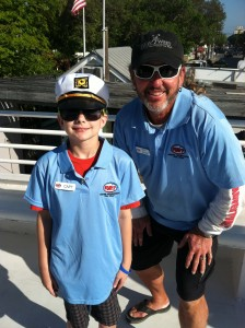 Captain Axel with Captain Brian aboard The Pride of Key West.