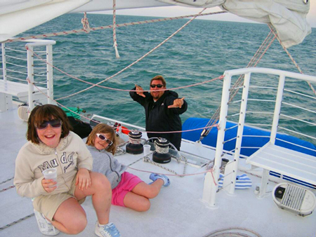 Image of Moroney Family on Fury Sunset Cruise in 2006