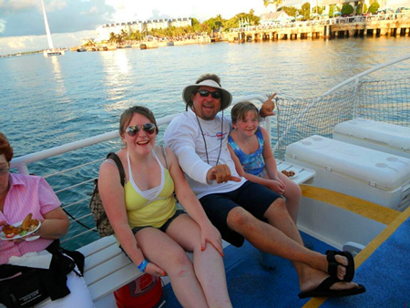 Image of Moroney Family on Fury Sunset Cruise in 2010