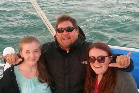 Image of Moroney Family on Fury Sunset Cruise in 2014