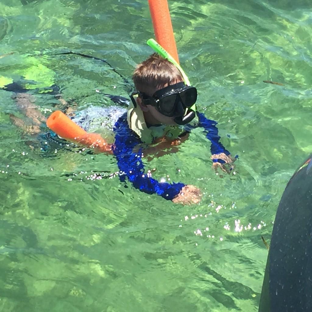 Image of Riley Laumer Snorkeling Make-A-Wish