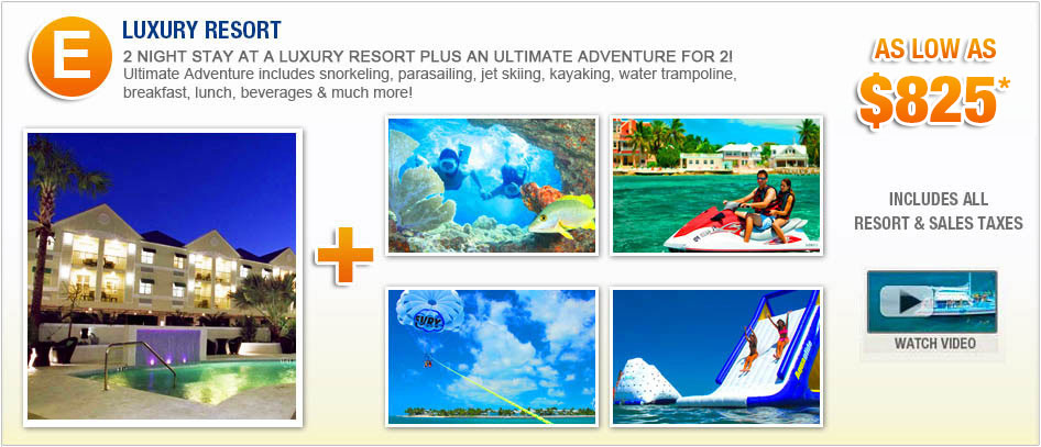 Key West Luxury Vacation Packages With Your Choice of Fury Water Adventure