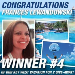 Congratulations Frances Lewandowski, winner #4 for the Fury Water Adventures Vacation giveaway