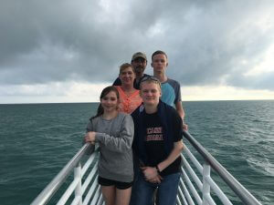 Image of family on Fury Glass Bottom Boat Tour