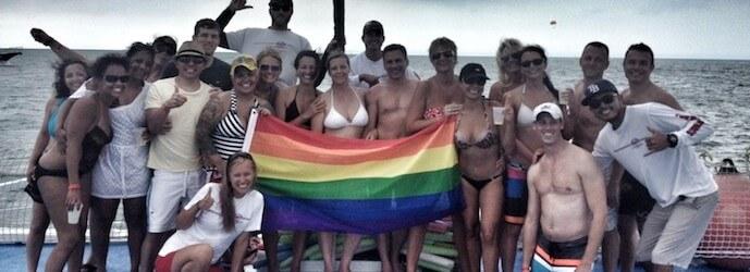 Fury cast members celebrating Pridefest in Key West
