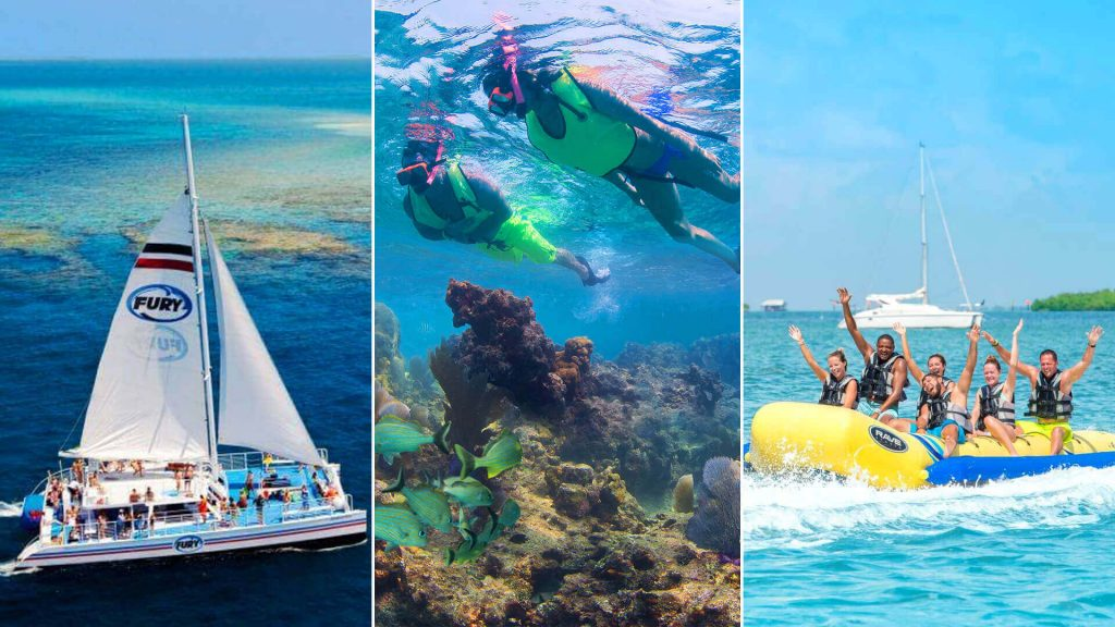 Fury Water Adventures glass bottom boat, snorkeling, and banana boat trips are open