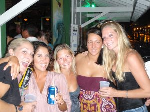 Gal pals at the Green Parrot in Key West