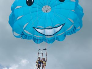 Tourists parasailing in Key West