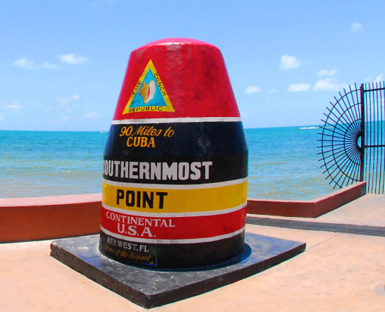 Image of the southern most point.
