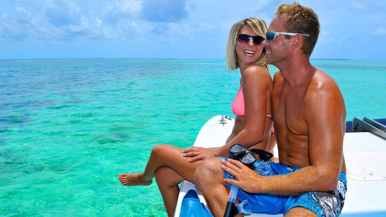 Image of couple on the Fury Snorkel Tour