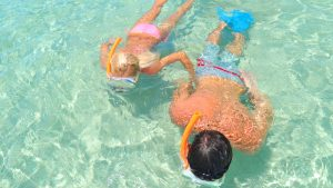 Image of couple snorkeling the Key West waters