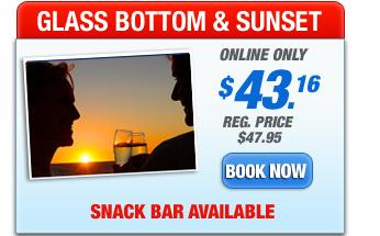 glass bottom boat sunset trip