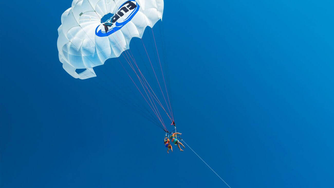 Parasailing on the Fury half day tour