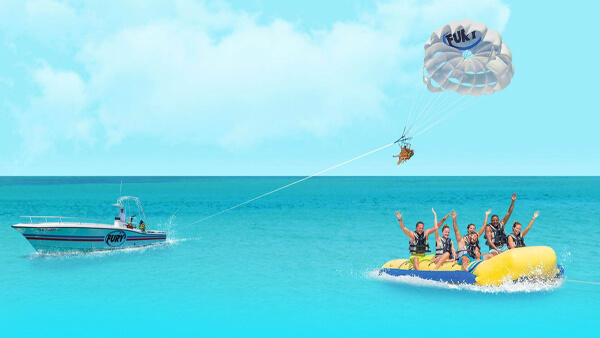 parasailing and banana boat ride