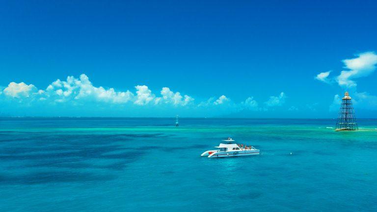 fury catamaran in gulf water