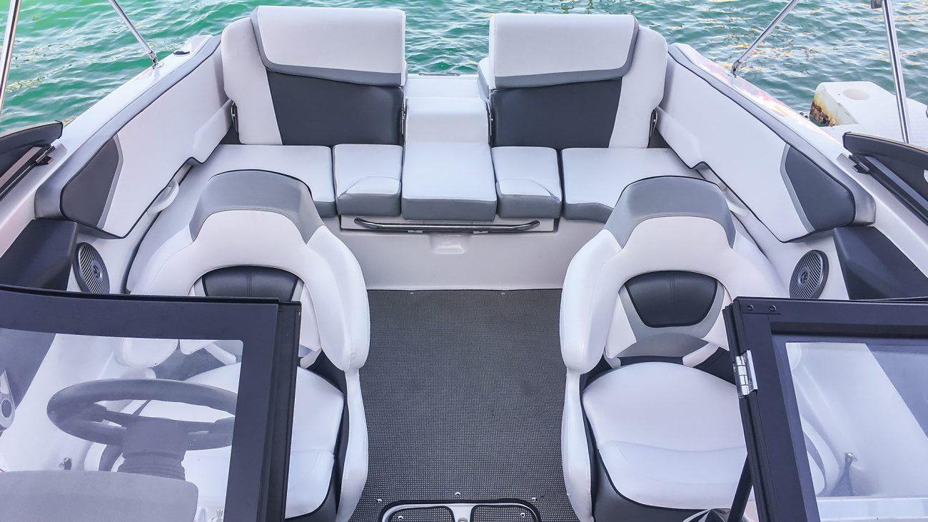Fury Deluxe Scarab Jet Boat inside