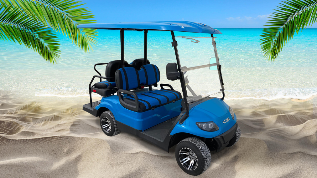 Fury Blue Golf Cart Rental at the beach