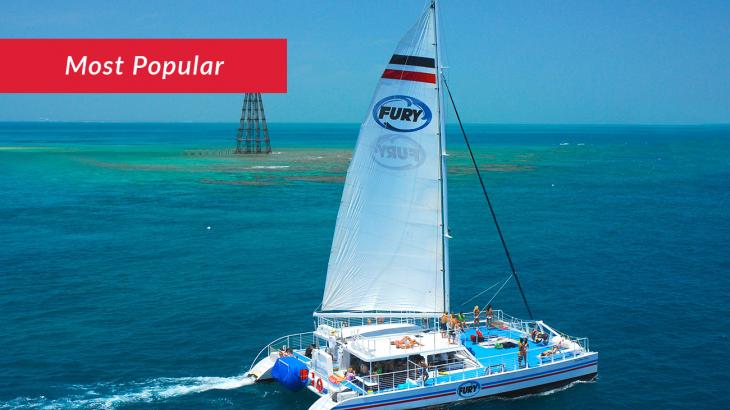 Fury catamaran sailing in Key West