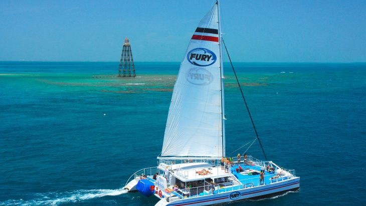 Fury Catamaran sailing in Key West