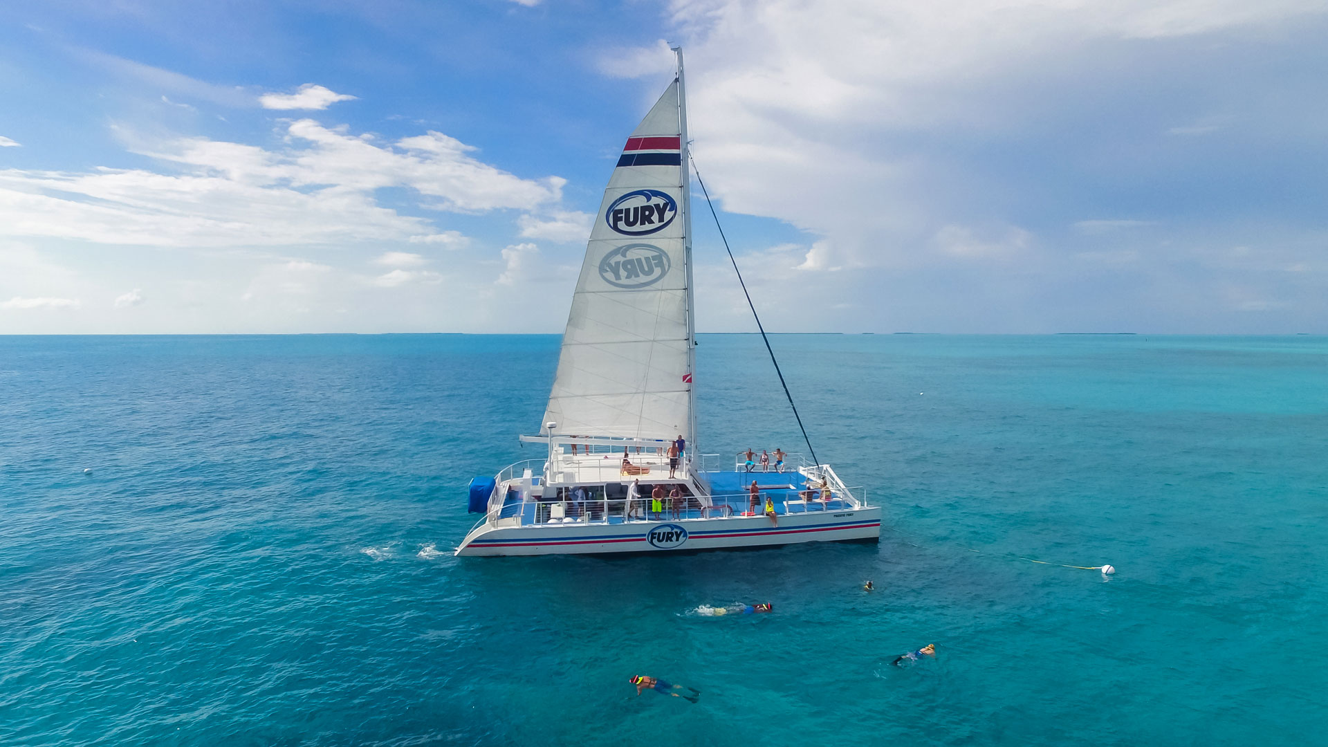 Catamaran in the gulf of mexico