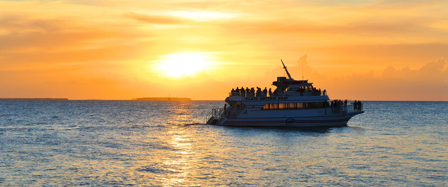 Fury Glass Bottom Boat Sunset Cruise