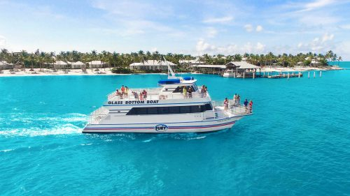 Glass Bottom Boat on the very blue water of Key West